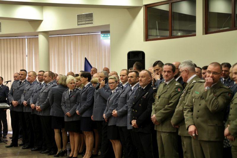 Bp Marczak na spotkaniu ze służbami mundurowymi