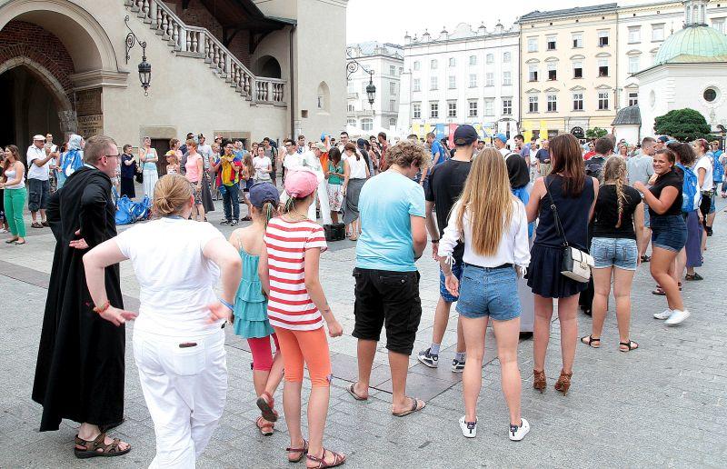 Pielgrzymi ŚDM na ulicach Krakowa. Fot. Aneta Żurek