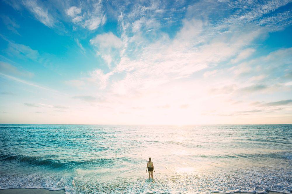 morze człowiek