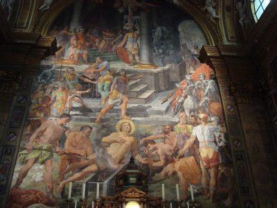 Fresk Męczeństwo świętego Wawrzyńca