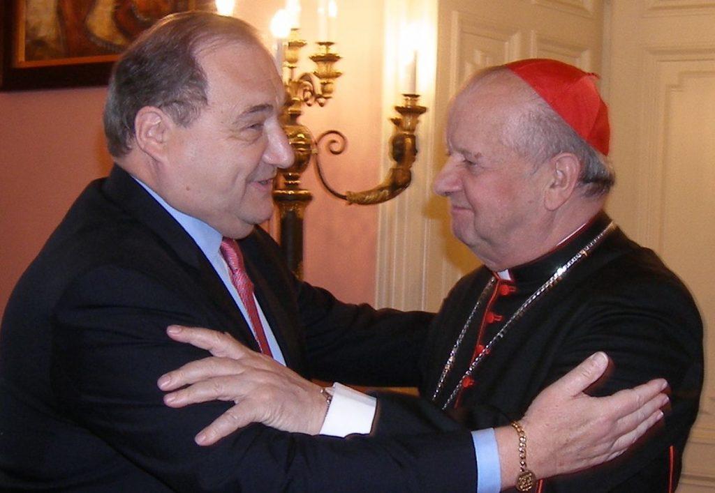 Abraham Foxman i kardynał Stanisław Dziwisz. Obaj są laureatami nagrody Orła Jana Karskiego. Fot. Waldemar Piasecki