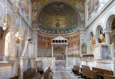 Wnętrze bazyliki św. Klemensa w Rzymie