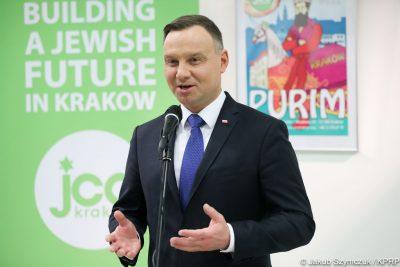 prezydent Andrzej Duda w Centrum Kultury Żydowskiej w Krakowie