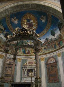 Wnętrze bazyliki św. Krzyża w Rzymie