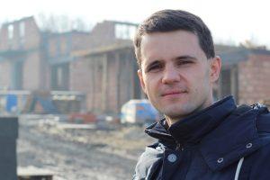 Andrzej Sobczyk na placu budowy