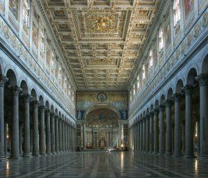 Wnętrze bazyliki św. Pawła za Murami