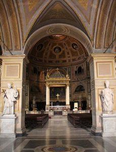 Wnętrze Bazyliki św. Wawrzyńca in Damaso