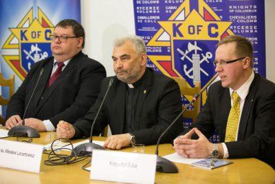 Konferencja prasowa nt. Rycerzy Kolumba