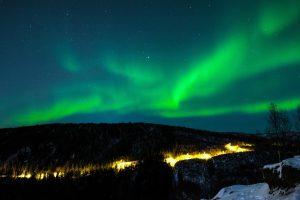 Zorza Polarna, Arktyka, wioska niebo